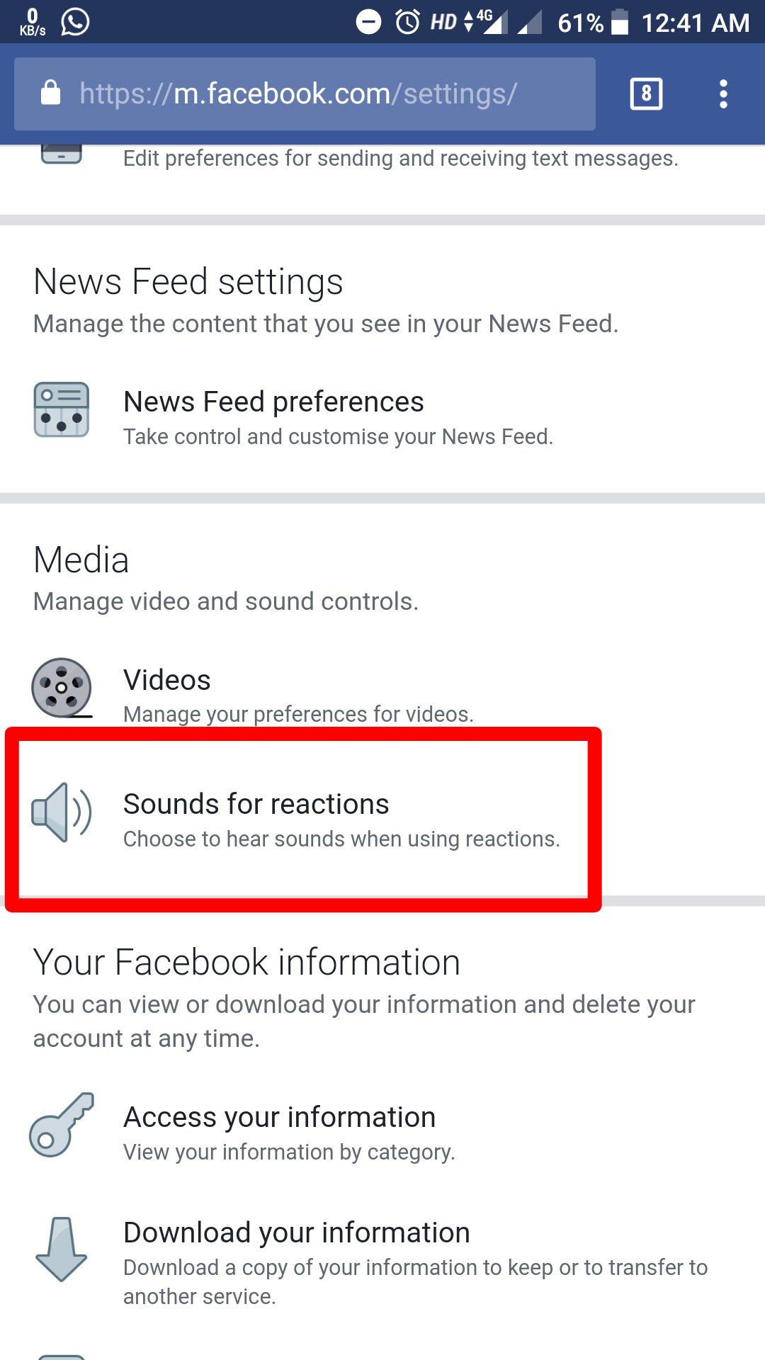 Facebook reaction sound