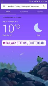 chittorgarh fort weather